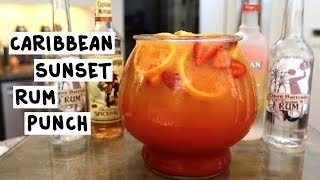 Caribbean Sunset Rum Punch