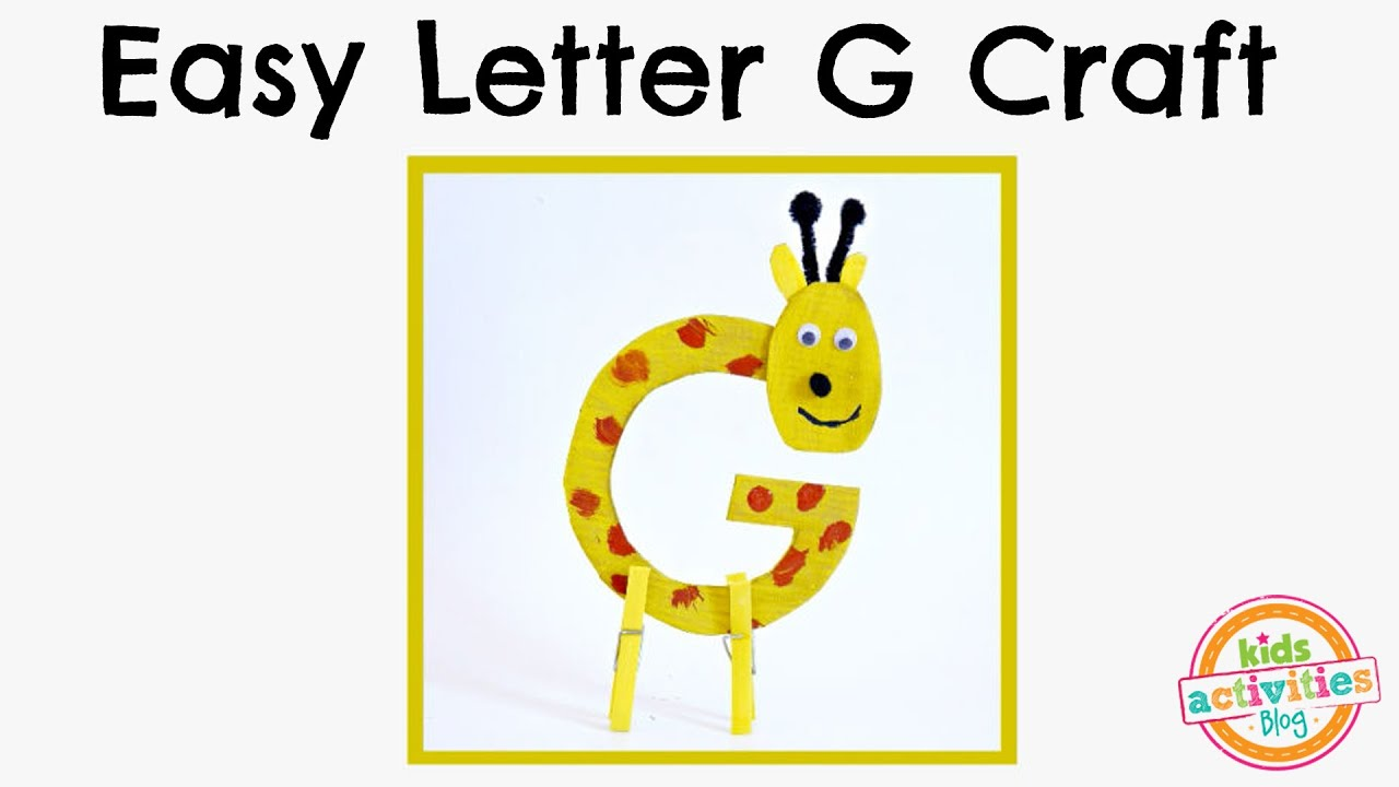 Easy Letter G Craft Preschool Alphabet Resource