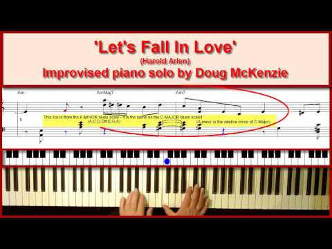 'Let's Fall In Love' - Jazz piano Tutorial
