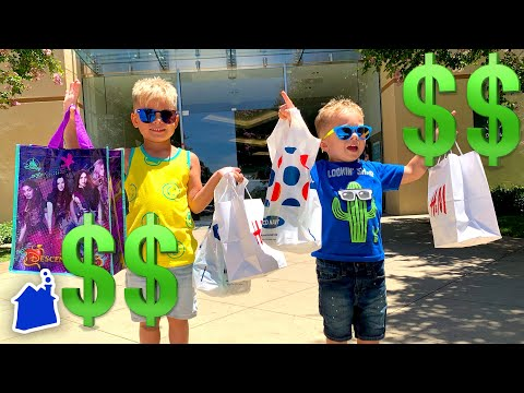 Kids No Budget Shopping Haul Challenge At The Mall! 💰