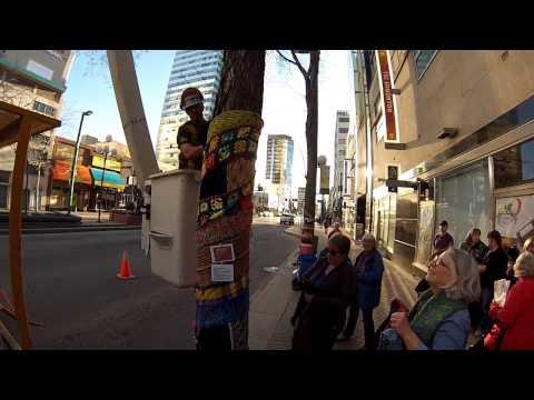 Focus On Fibre Arts Edmonton YarnBomb 2014