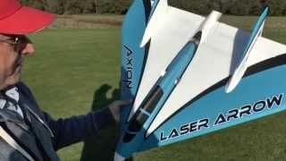 Axion RC LASER ARROW Maiden flight