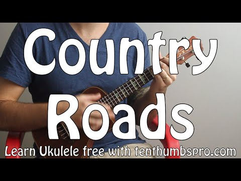 Country Roads - John Denver - Ukulele Song Tutorial - Easy Beginner Song