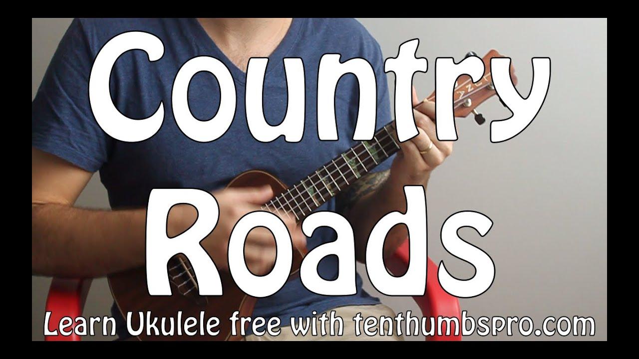 Country Roads - John Denver - Ukulele Song Tutorial - Easy Beginner Song