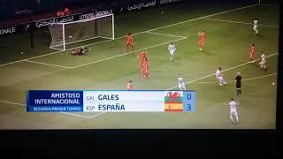 España Vs Gales | Resumen Primer Tiempo 3-0