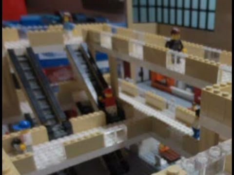 LEGO Shopping MALL! 50,000 pcs, 56 SHOPS, 3 STORIES, 10 Ft LONG ...