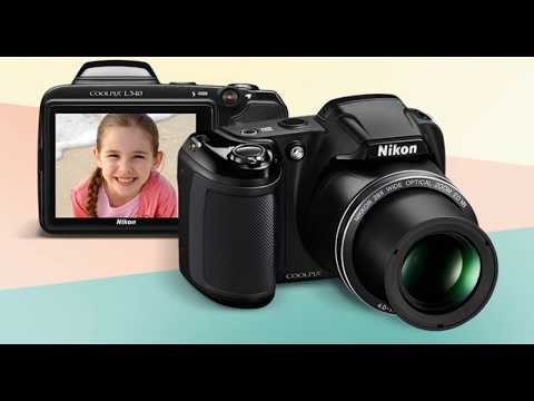 Nikon COOLPIX L340 Digital Camera with 28x Zoom & Full HD Video (Black) International Version