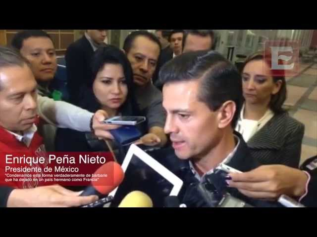 Peña Nieto condena atentados y reitera solidaridad con Francia