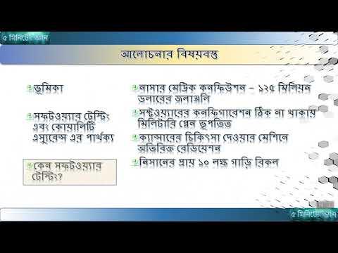 সফটওয়্যার কোয়ালিটি এস্যুরেন্স - Software Quality Assurance in Bangla