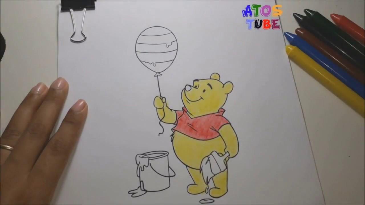 Vamos Colorir O Ursinho Puff Desenhos Para Criancas Apreendendo