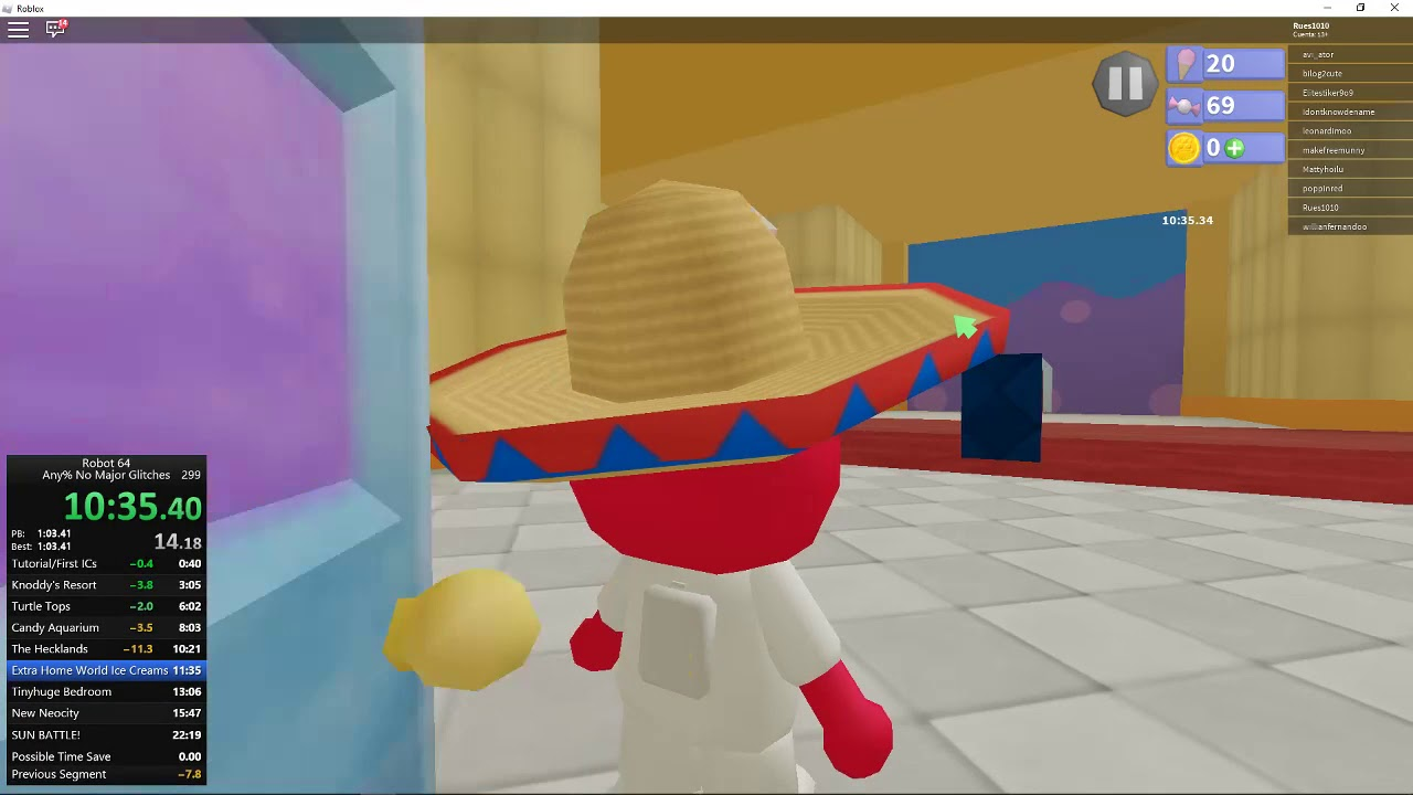 Roblox Aquarium Hat No Major Glitches In 22m 05s 840ms By Zeldstarro Robot 64 Speedrun Com