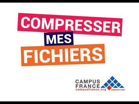 Campus France : Comment compresser mes fichiers scannés ? - TUTORIEL #4