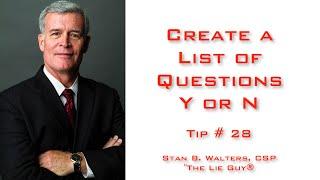 Befragung und Verhör | Erstellen Sie eine Liste von Fragen. Y oder N | Tip #28 von 101 Tipps