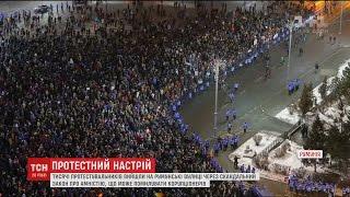 У Румунії десятки тисяч людей вийшли на вулиці, аби висловити невдоволення законом про амністію