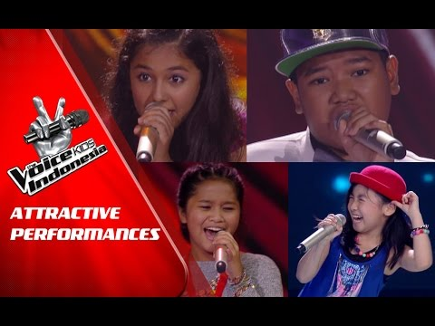 Attractive Performances   The Blind Auditions   The Voice Kids Indonesia GlobalTV 2016
