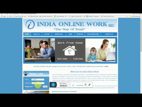 Indiaonlinework.com / ad posting Demo / Copy Paste work Demo / Daily payment.( Hindi )  New Update