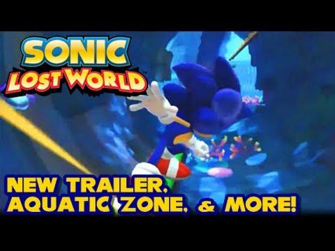 Sonic Lost World - Aquatic Stage, New Trailer, English Cutscene, & More!  