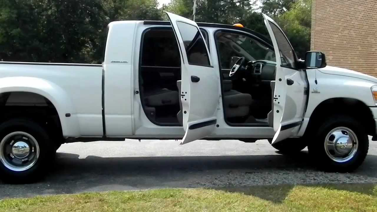 Dually Short Bed >> 2007 Dodge Ram 3500 SLT Mega Cab Dually 5.9L Cummins DIESEL - YouTube