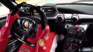Sebastian Vettel test drives the Ferrari FXX K