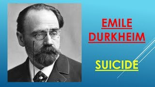 essay on durkheims theory of suicide Durkheim and suicide research papers discuss emile durkheim's theory of suicide a research paper on durkheim's literary work pertaining to suicide will establish that it was emile durkheim's intent to prove that suicide was as much a sociological phenomenon as it was a psychological one.