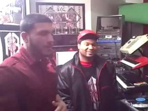 Xplicit in the studio with producer Red Spyda
