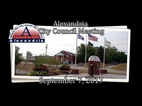 Alexandria CIty Council meeting 9.7.17