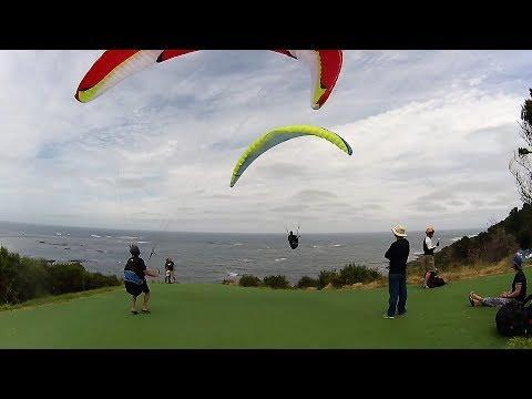 180120 PPG, Paragliding Flinders Golf Course Victoria Australia.