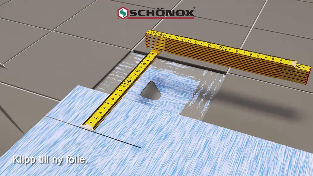 Inredning tätskikt våtrum : Lagning av folietätskikt - SCHÖNOX