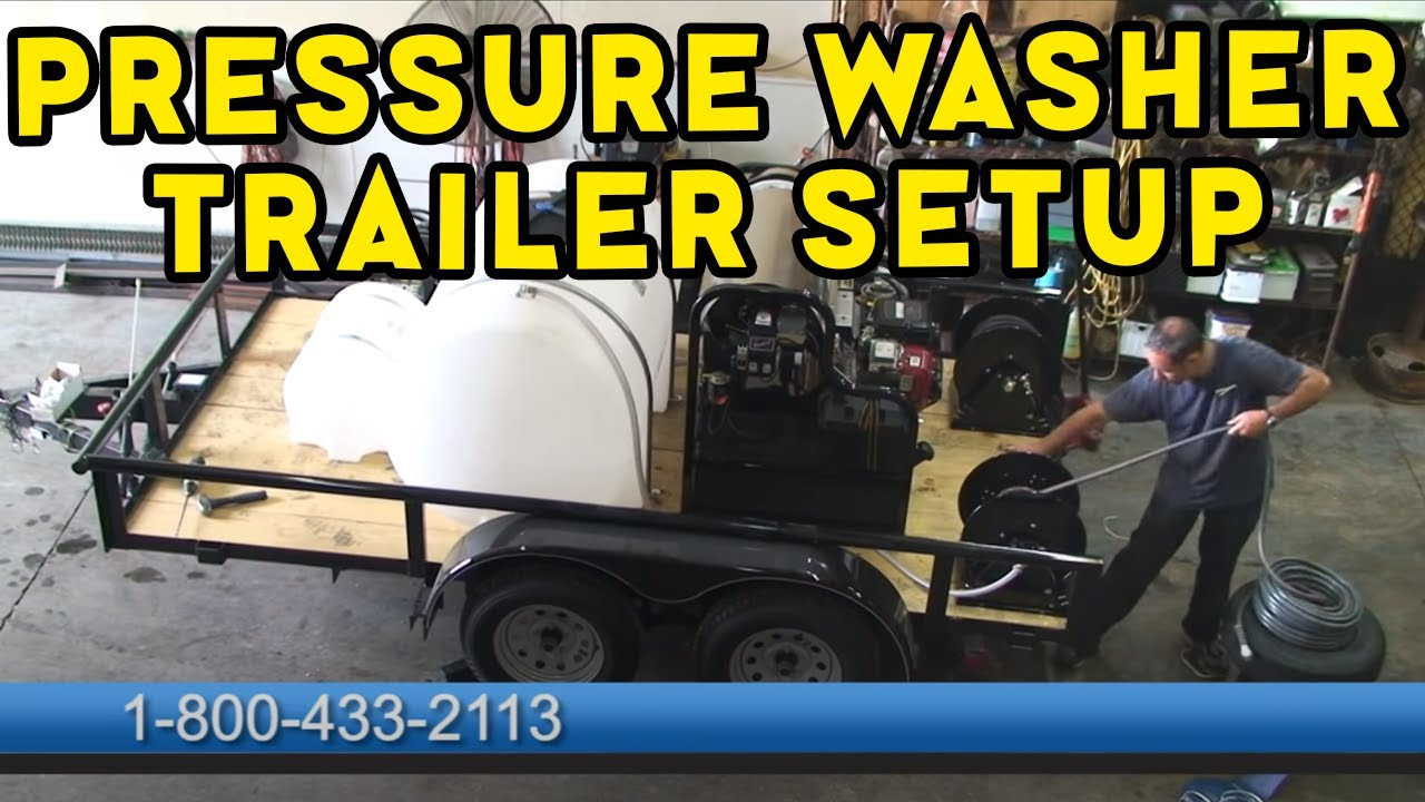 Water Tank Trailer >> Building an Open Pressure Washing Trailer - YouTube