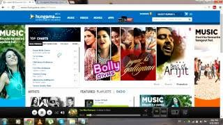 how to earn money by listening musics on hungama.com ( in Hindi )