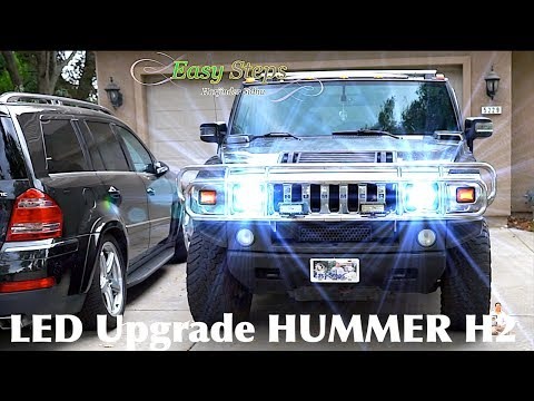 How To Replace | Upgrade HUMMER Headlights To LED Lights | H2 LED Upgrade