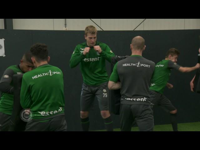 Kickboks-training van Sem Schilt