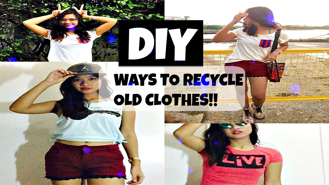 HOW TO: DIY Ways to Recycle Old Clothes! - YouTube