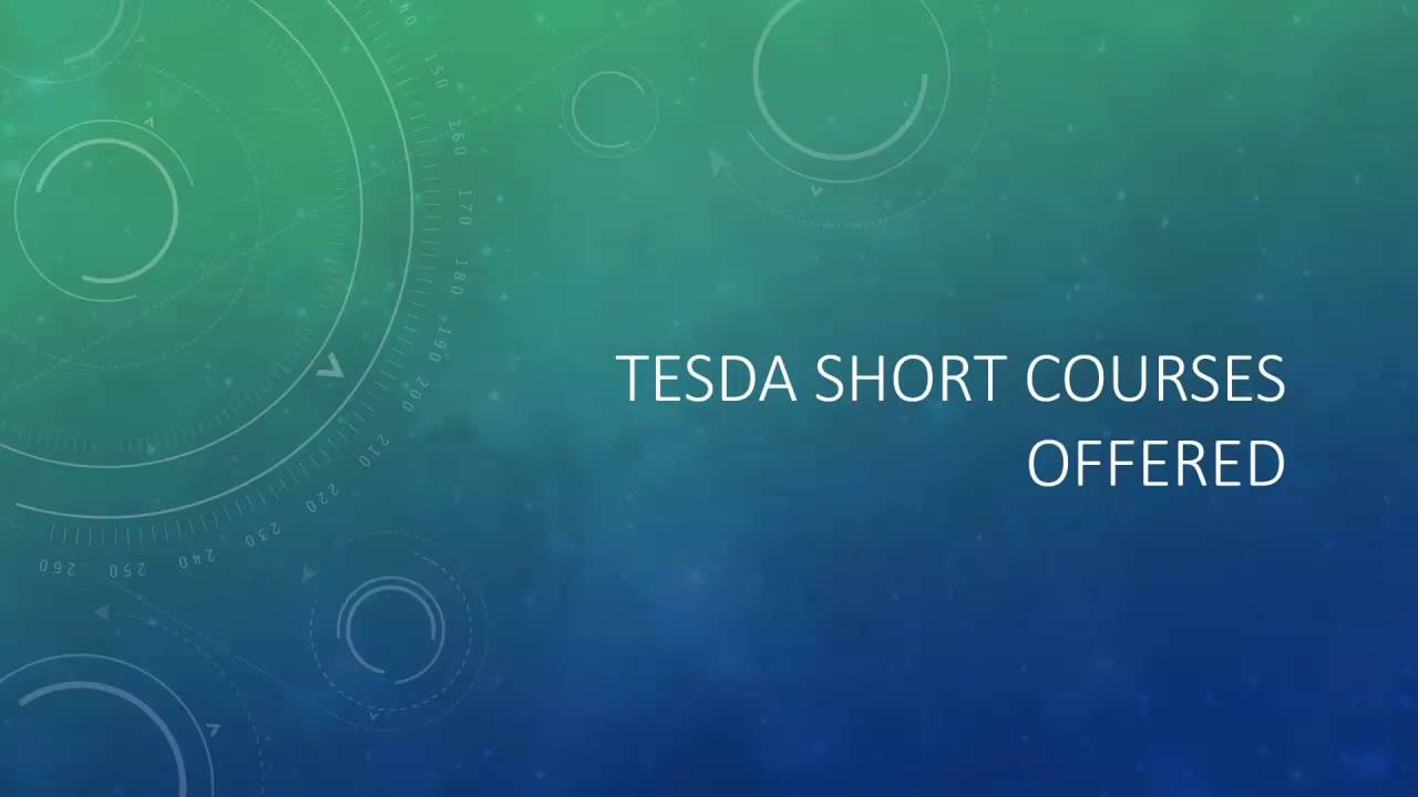 Tesda short courses offered as of 2018 youtube sciox Choice Image