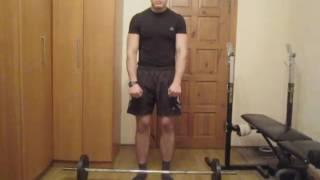 Тренируем мышцы спины дома. Урок 09 Тяга штанги в наклоне
