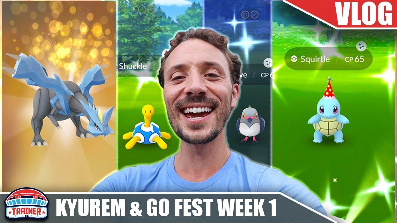 SHINY PARTY! GO FEST WEEK 1 SHINY HAUL & KYUREM RAID HOUR! | Pokémon GO