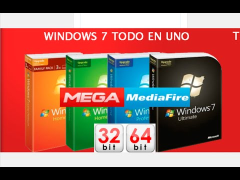 Windows 7 SP1 Full x86 32-bit x64 64-bit Español Actualizado