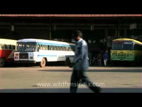 Karnataka State Road Transport Corporation bus stand or Majestic bus stand, Bangalore