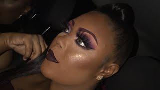 Eggplant makeup look