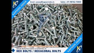 Precision Fasteners Hex Bolts Hex Nuts Exporters in India threadedrodsmanufacturers.com