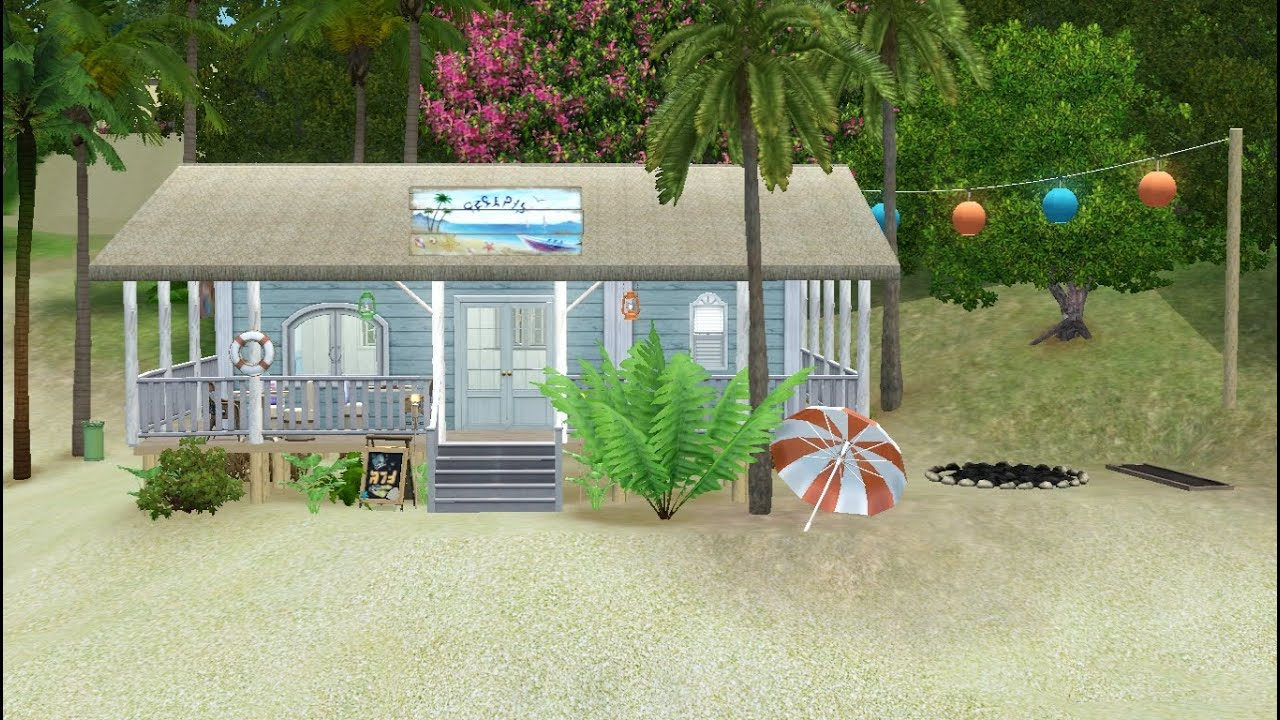 Sims 3 community lot building salty plate beach bar for How to build a beach bar
