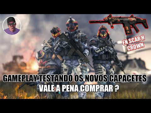 "WARFACE - Gameplay testando os novos capacetes ""Devil Dog"" / Fn Scar H Crown"