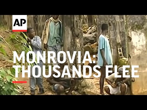 LIBERIA: MONROVIA: THOUSANDS FLEE AS FIGHTING CONTINUES