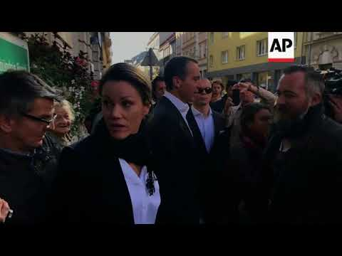 Social Democrat leader Kern speaks after voting in Vienna