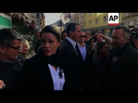 Social Democrat leader Kern speaks after voting in Vienna