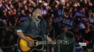 Bruce Springsteen performs his classics at Hillary Clinton rally