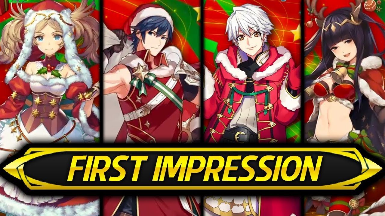 Fe Heroes Christmas.Fire Emblem Heroes Christmas Banner First Impression Opinions Discussion Winter S Envoy
