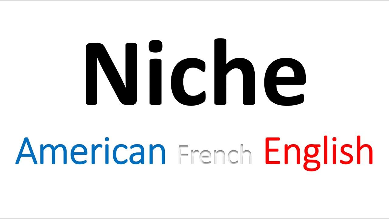 How to Pronounce Niche? (Company, Market) American, English, French  Pronunciaton