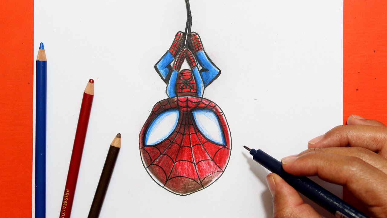 Como Dibujar Spiderman Kawaii │ How To Draw Spiderman