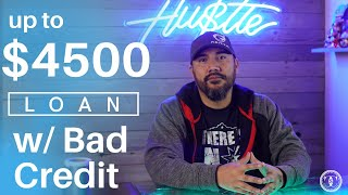 Up to $4500 Bad Credit Loan | Personal Loans for NO CREDIT (or BAD CREDIT) | No consigner required